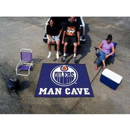 Click here to learn more about the Edmonton Oilers Man Cave Tailgater Rug 5''x6''.
