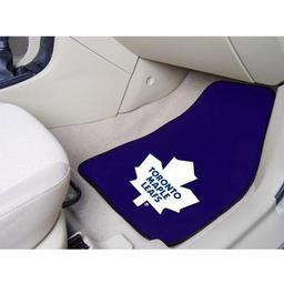 "Click here to learn more about the Toronto Maple Leafs 2-pc Printed Carpet Car Mats 17""x27""."