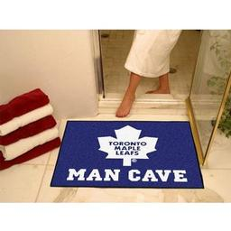 "Click here to learn more about the Toronto Maple Leafs Man Cave All-Star Mat 33.75""x42.5""."