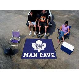 Click here to learn more about the Toronto Maple Leafs Man Cave Tailgater Rug 5''x6''.