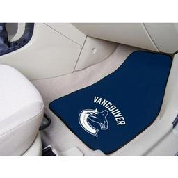 "Click here to learn more about the Vancouver Canucks 2-pc Printed Carpet Car Mats 17""x27""."