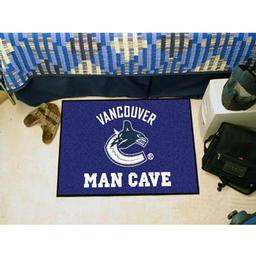 "Click here to learn more about the Vancouver Canucks Man Cave Starter Rug 19""x30""."