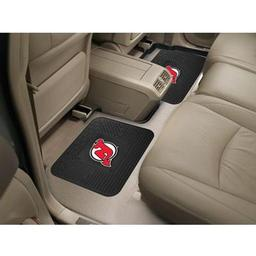 "Click here to learn more about the New Jersey Devils Backseat Utility Mats 2 Pack 14""x17""."
