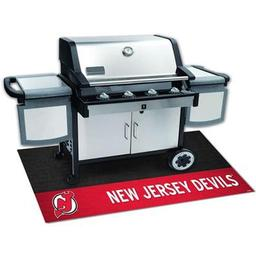 "Click here to learn more about the New Jersey Devils Grill Mat 26""x42""."