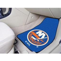 "Click here to learn more about the New York Islanders 2-pc Printed Carpet Car Mats 17""x27""."