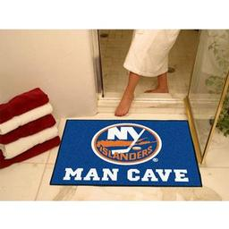 "Click here to learn more about the New York Islanders Man Cave All-Star Mat 33.75""x42.5""."