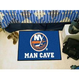 "Click here to learn more about the New York Islanders Man Cave Starter Rug 19""x30""."