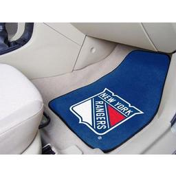 "Click here to learn more about the New York Rangers 2-pc Printed Carpet Car Mats 17""x27""."