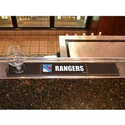 "Click here to learn more about the New York Rangers Drink Mat 3.25""x24""."