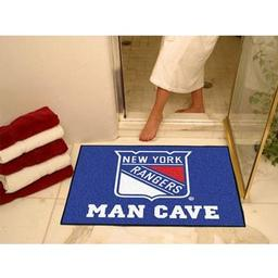 "Click here to learn more about the New York Rangers Man Cave All-Star Mat 33.75""x42.5""."