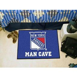 "Click here to learn more about the New York Rangers Man Cave Starter Rug 19""x30""."