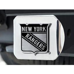 "Click here to learn more about the New York Rangers Hitch Cover 4 1/2""x3 3/8""."
