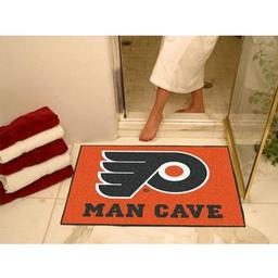 "Click here to learn more about the Philadelphia Flyers Man Cave All-Star Mat 33.75""x42.5""."