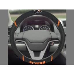 "Click here to learn more about the Philadelphia Flyers Steering Wheel Cover 15""x15""."