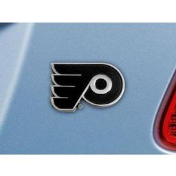 "Click here to learn more about the Philadelphia Flyers Emblem 2.2""x3.2""."