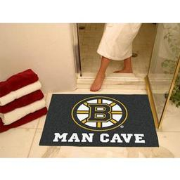 "Click here to learn more about the Boston Bruins Man Cave All-Star Mat 33.75""x42.5""."