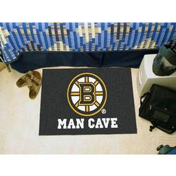 "Click here to learn more about the Boston Bruins Man Cave Starter Rug 19""x30""."