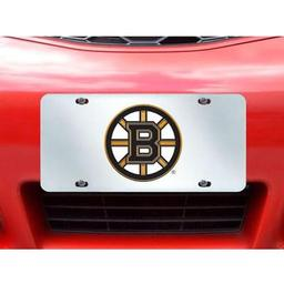 "Click here to learn more about the Boston Bruins License Plate Inlaid 6""x12""."