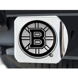 "Click here to learn more about the Boston Bruins Hitch Cover 4 1/2""x3 3/8""."
