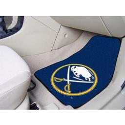 "Click here to learn more about the Buffalo Sabres 2-pc Printed Carpet Car Mats 17""x27""."