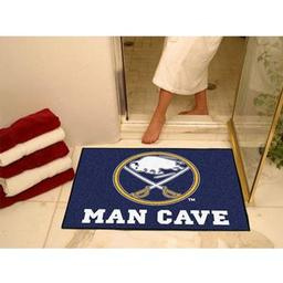 "Click here to learn more about the Buffalo Sabres Man Cave All-Star Mat 33.75""x42.5""."