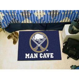 "Click here to learn more about the Buffalo Sabres Man Cave Starter Rug 19""x30""."