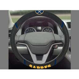 "Click here to learn more about the Buffalo Sabres Steering Wheel Cover 15""x15""."