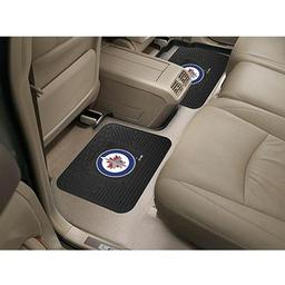 "Click here to learn more about the Winnipeg Jets Backseat Utility Mats 2 Pack 14""x17""."