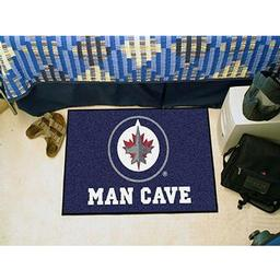 "Click here to learn more about the Winnipeg Jets Man Cave Starter Rug 19""x30""."