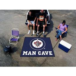 Click here to learn more about the Winnipeg Jets Man Cave Tailgater Rug 5''x6''.