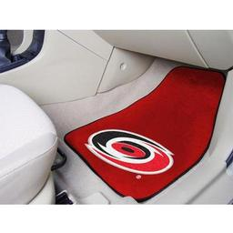 "Click here to learn more about the Carolina Hurricanes 2-pc Printed Carpet Car Mats 17""x27""."