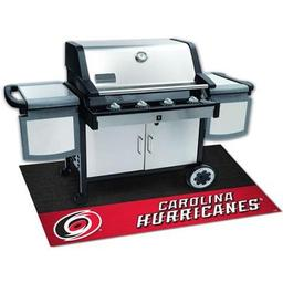 "Click here to learn more about the Carolina Hurricanes Grill Mat 26""x42""."
