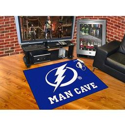 "Click here to learn more about the Tampa Bay Lightning Man Cave All-Star Mat 33.75""x42.5""."