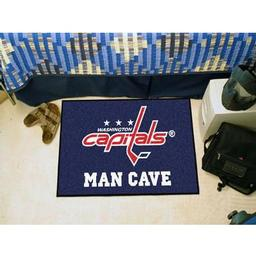 "Click here to learn more about the Washington Capitals Man Cave Starter Rug 19""x30""."