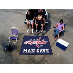 Click here to learn more about the Washington Capitals Man Cave Tailgater Rug 5''x6''.