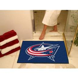 "Click here to learn more about the Columbus Blue Jackets All-Star Mat 33.75""x42.5""."
