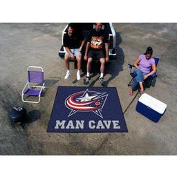 Click here to learn more about the Columbus Blue Jackets Man Cave Tailgater Rug 5''x6''.