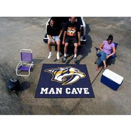 Click here to learn more about the Nashville Predators Man Cave Tailgater Rug 5''x6''.