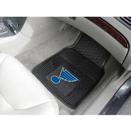 Click here to learn more about the St. Louis Blues 2-pc Vinyl Car Mat Set.