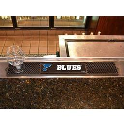 "Click here to learn more about the St. Louis Blues Drink Mat 3.25""x24""."