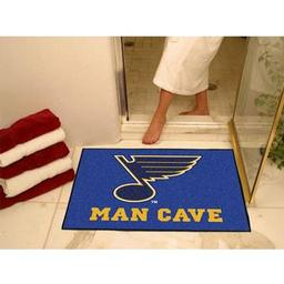 "Click here to learn more about the St. Louis Blues Man Cave All-Star Mat 33.75""x42.5""."