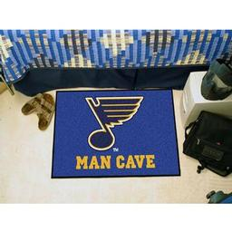 "Click here to learn more about the St. Louis Blues Man Cave Starter Rug 19""x30""."
