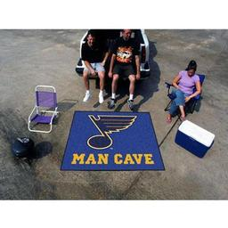 Click here to learn more about the St. Louis Blues Man Cave Tailgater Rug 5''x6''.
