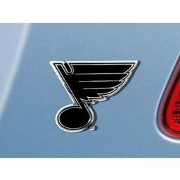 "Click here to learn more about the St. Louis Blues Emblem 3""x3.2""."