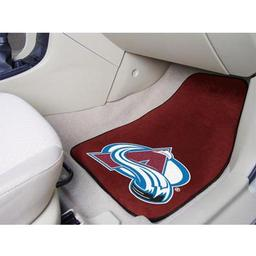 "Click here to learn more about the Colorado Avalanche 2-pc Printed Carpet Car Mats 17""x27""."
