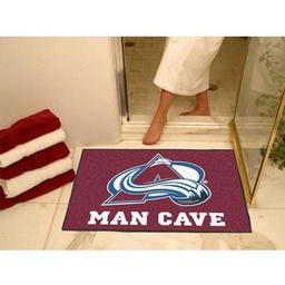 "Click here to learn more about the Colorado Avalanche Man Cave All-Star Mat 33.75""x42.5""."