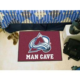 "Click here to learn more about the Colorado Avalanche Man Cave Starter Rug 19""x30""."