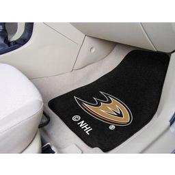 "Click here to learn more about the Anaheim Ducks 2-pc Printed Carpet Car Mats 17""x27""."