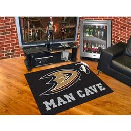 "Click here to learn more about the Anaheim Ducks Man Cave All-Star Mat 33.75""x42.5""."
