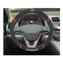 "Click here to learn more about the Anaheim Ducks Steering Wheel Cover 15""x15""."